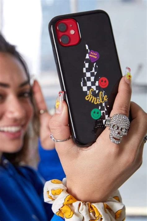 Avani Checkers and Smiles Black Phone Case - Fanjoy