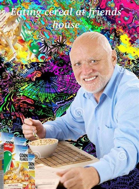 Eat cereal | Hide The Pain Harold | Know Your Meme