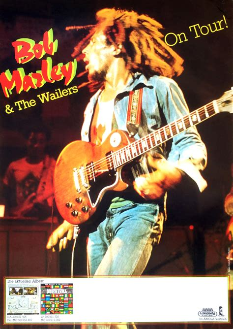 Bob Marley and The Wailers – 1980 German Concert Poster