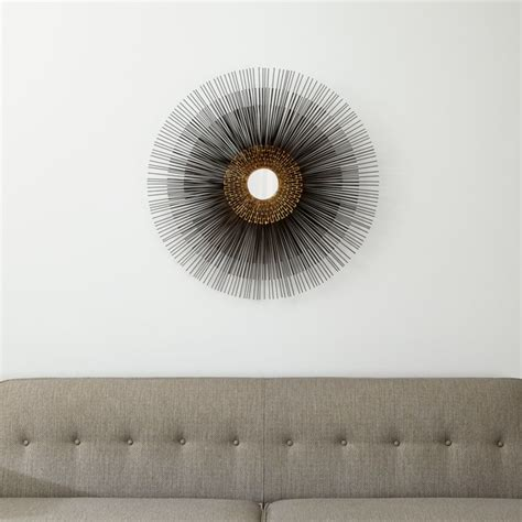 Starburst Round Wall Mirror + Reviews   Crate and Barrel