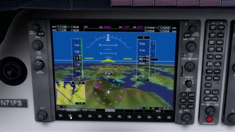 WebSimConnect G1000 Synthetic Vision System - YouTube