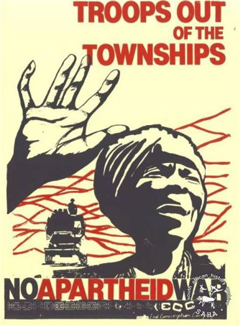 UDF Poster 'TROOPS OUT OF THE TOWNSHIPS : NO APARTHEID WAR