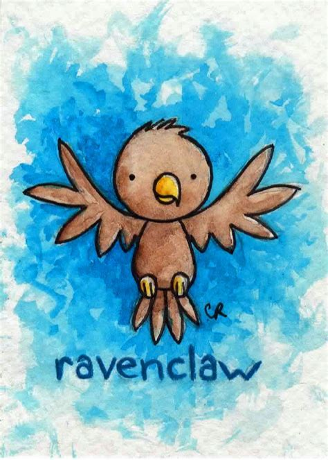 ACEO of the delightful Ravenclaw eagle! (yes, I chose to