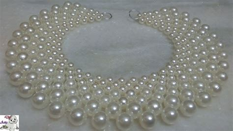 #1 How to make Pearl Beaded Necklace || Diy || jewellery