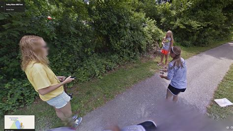 What are these girls fishing for? | Google Street View