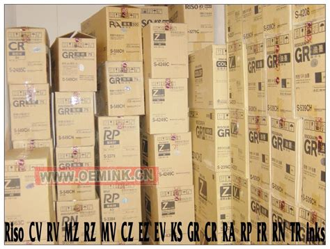 CR TR Series Consumables Digital Duplicator Inks and